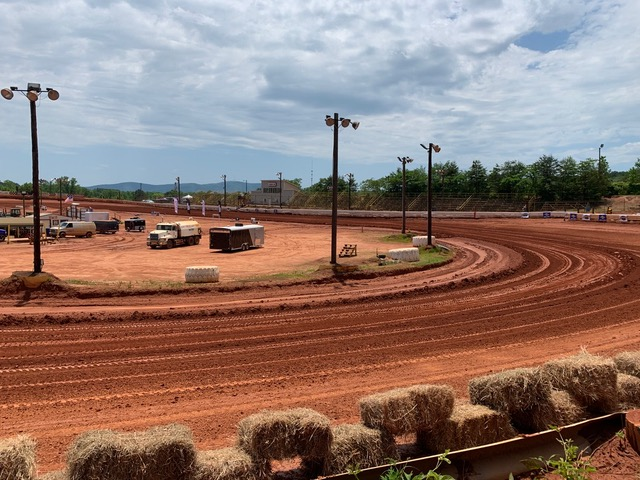 Travelers Rest race track on Saturday looked great to start the day