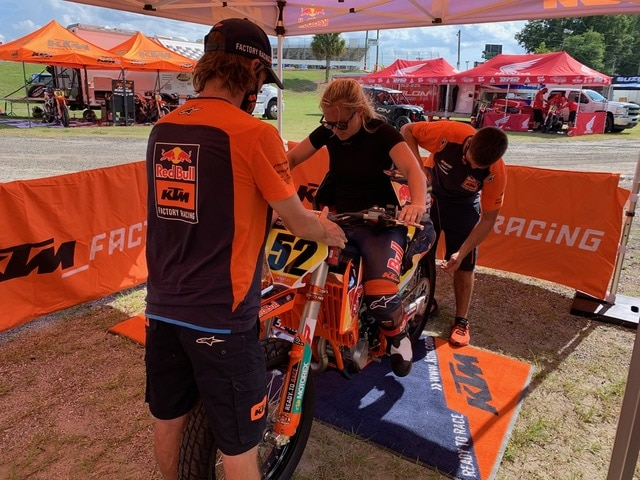 The Red Bull KTM Factory Paddock area is always among the best. Shayna's bikes featured an onboard camera this weekend….should be some pretty exciting footage!