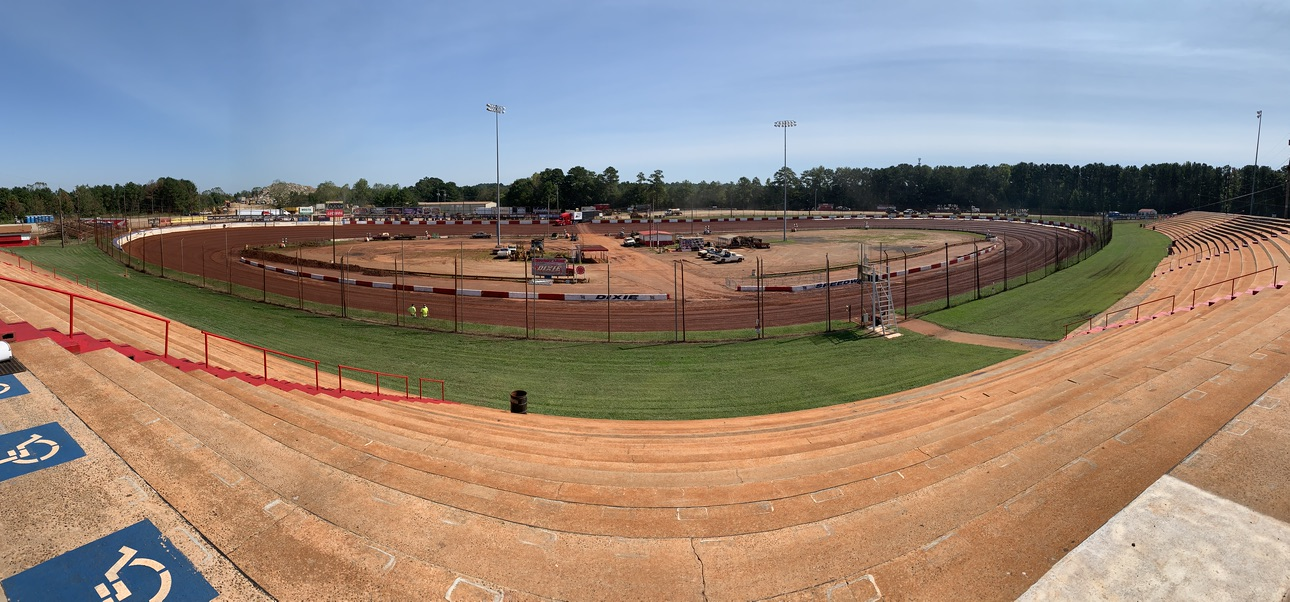 "Dixie Speedway is a ""D"" shaped track. The front stretch is basically a very long turn!"